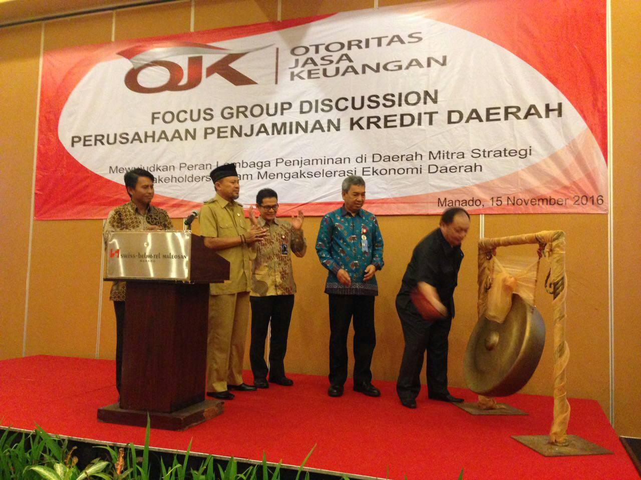 Bupati Hadiri FGD Perusahaan Penjamin Kredit Daerah OJK