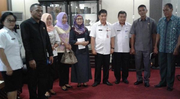 Kunjungan Kerja Dewkab Bolmut di Dinas Provinsi Sulut