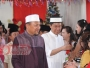 Unik, Bupati Bolsel Gunakan Jubah Muslim Ikuti Pra Natal