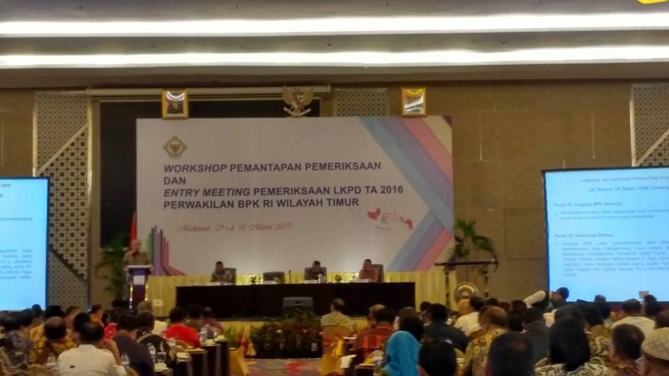Walikota Hadiri Kegiatan Workshop Pemantapan Pemeriksaan dan Entry Meeting Pemeriksaan LKPD