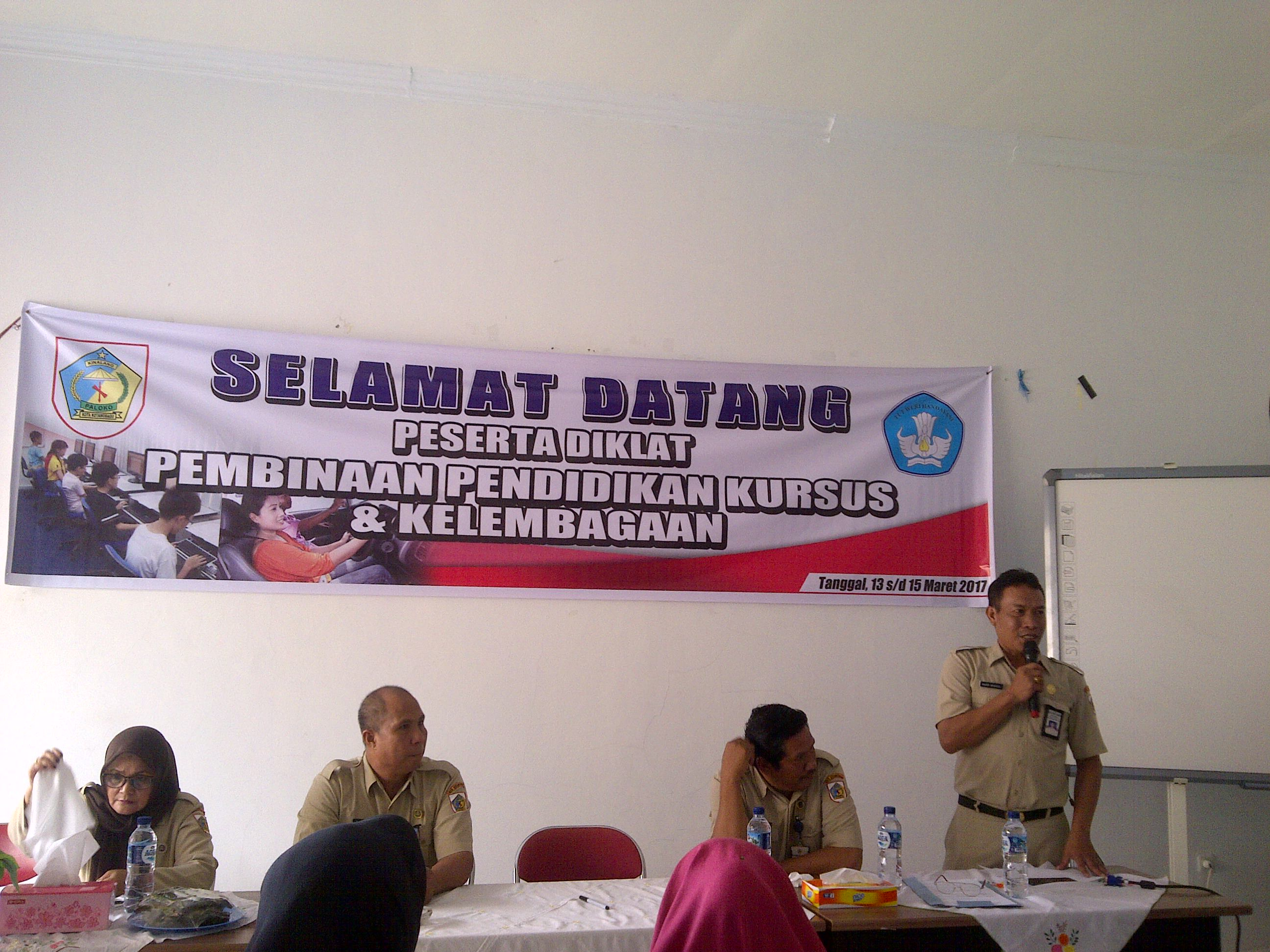 Pemkot GelarDiklat Pembinaan Pendidikan Kursus dan Kelembagaan