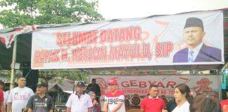 Herson Kobarkan Semangat Hari Proklamasi Bersama Warga Manado