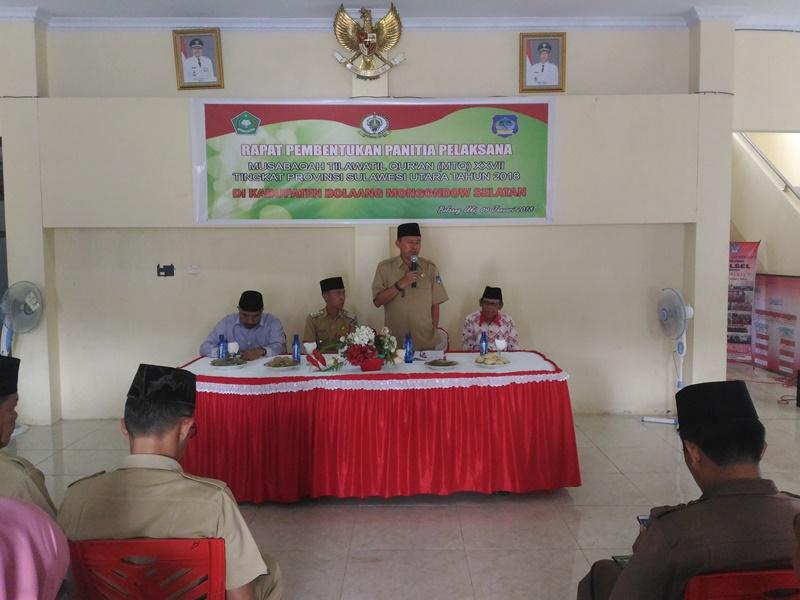 Mei Pelaksanaan MTQ Tingkat Provinsi di Bolsel