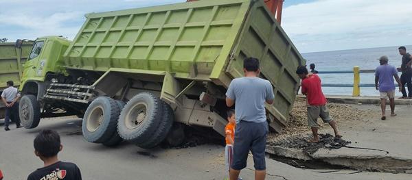 Ternyata Dump Truk Rusak Jalan Jembatan Pintadia Milik PT Dinasti